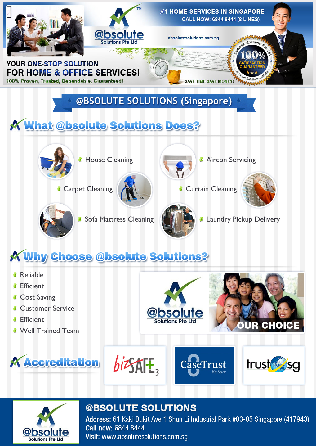 cleaning service bsolute solutions pte bsolute what we do infographic